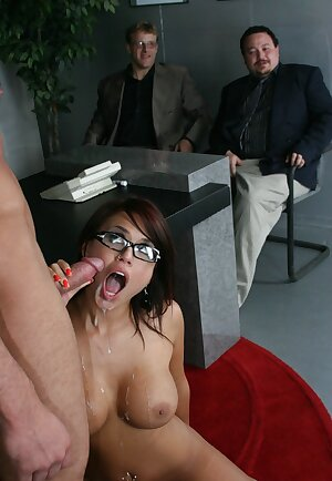 Hardcore sex in the office with Eva Angelina
