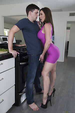 Curvy American wife Kendra Lust gets fucked by a horny younger boy