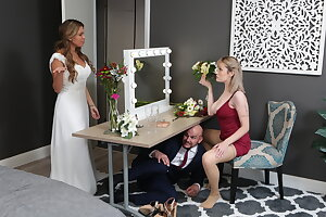 American bridesmaid getting fucked by a horny groom