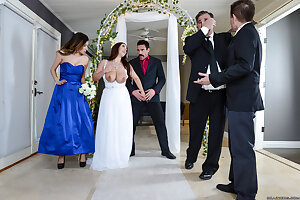 Horny bride gets ass fucked hardcore