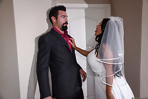 Naughty bride August Taylor cheating her groom