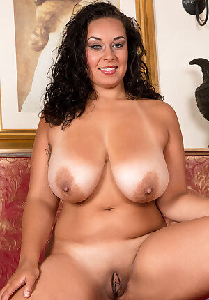 Voluptuous Latina hottie Anastasia Lux reveals her enormous breasts and masturbates
