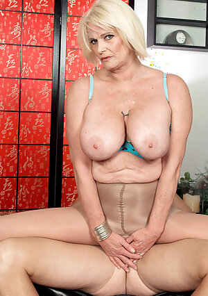 Big titted older mom Rose Marie fucking with younger lover