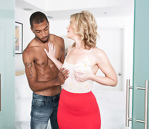 White 47 year old woman bangs with black 21 year old guy.