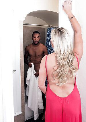 Stunning MILF Brianna Shay enjoying her black young lover
