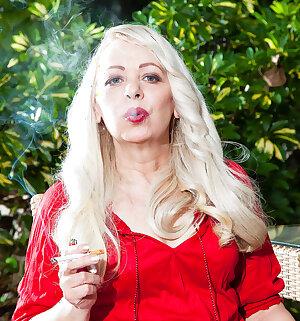 Smoking older slut