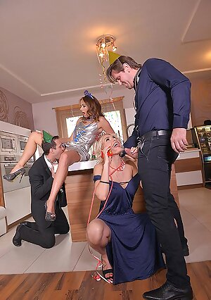 Naughty New Year - Foursome sex