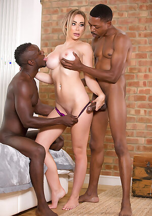 Black dicks make British babe Chessie Kay cum