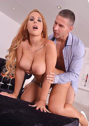 Redhead Hungarian porn star Kyra Hot fucked hard