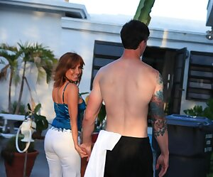 Provocative Chilean cougar Tara Holiday pleasures tattooed guy and tastes his cum