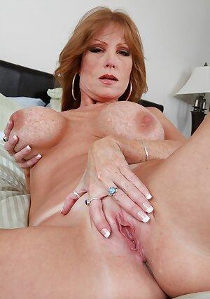 Redhead American mom Darla Crane fingering and blowjobs cock POV style
