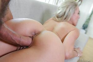 Very hot blonde porn star Brandi Love gets fucked hard