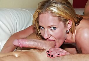 Horny MILF gets oiled up for hardcore shagging