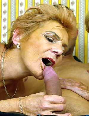 Two matures sucking and fucking one lucky guy