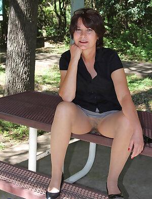 Naughty mature lady upskirt pantyhose