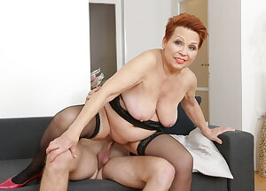 Granny fooling around with her younger lover
