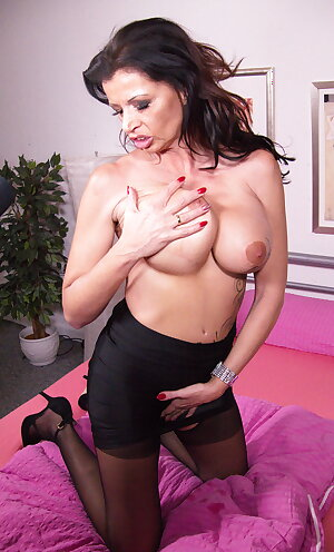 Hot German mom loves playing with her pussy