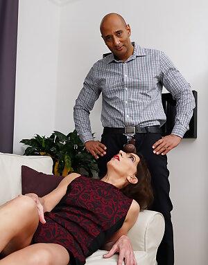 Horny mature slut getting a big black cock