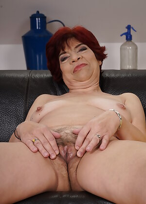 Horny old women playing with herself