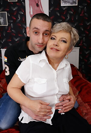 Horny older slut fooling around with her boy