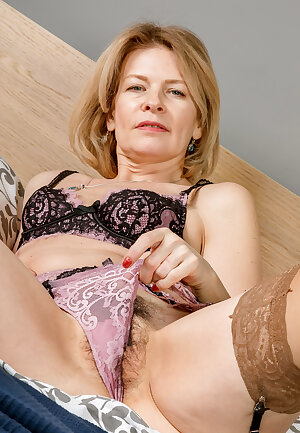 Sweet mature wife lingerie play