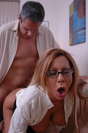 Mature therapist Demi Delia reveals her big tits