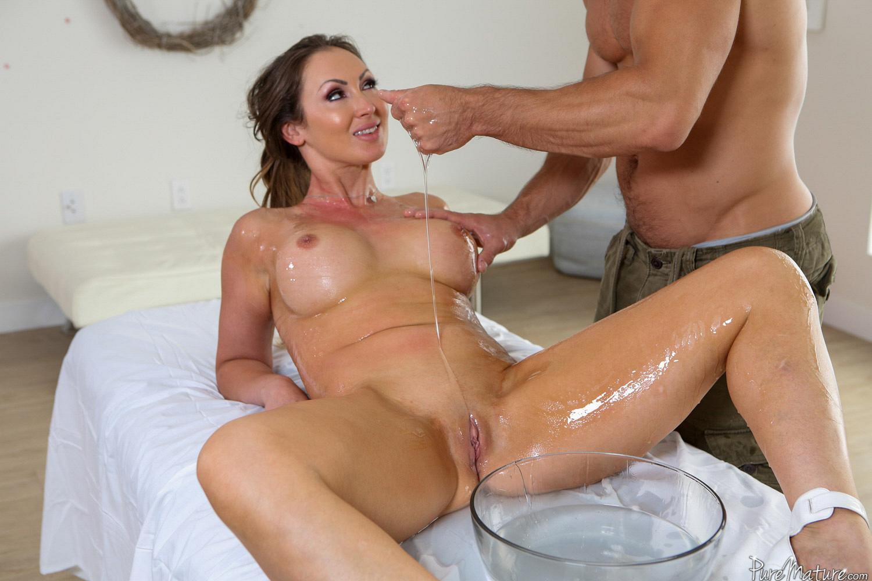 Big Tit Oily Teen Massages Hard Cock