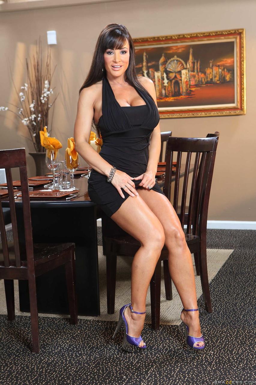 Stunning MILF pornstar Lisa Ann posing in lingerie